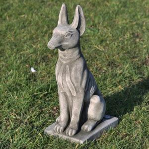 stoneware dog garden statues