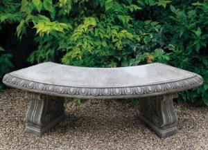Dragonstone cast stoneware bench