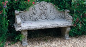 cast stoneware bench
