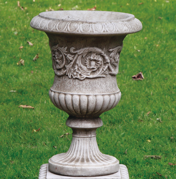 reconstituted limestone  urns and pots