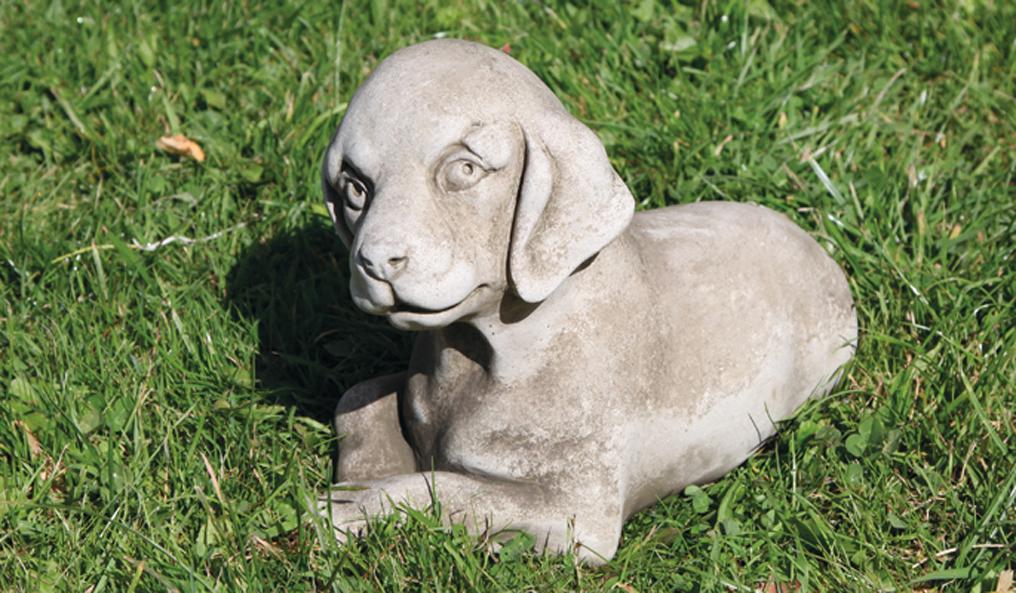 labrador puppy stoneware garden ornament