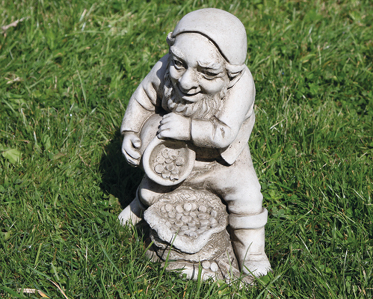 hand crafted stoneware gnomes