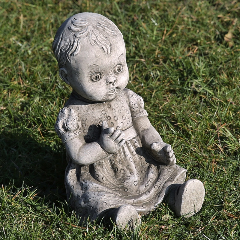hand made cast limestone doll