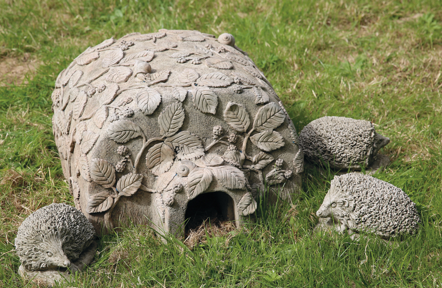 stoneware hedgehog house
