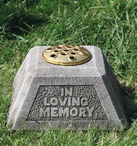 stoneware funeral memorials