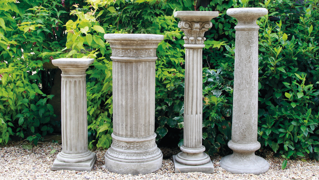 Gardencraft stoneware plinths