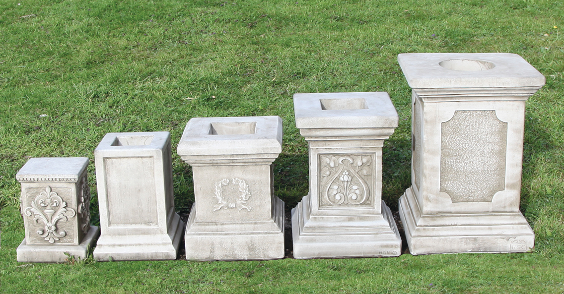 Dragonstone reconstituted limestone plinths
