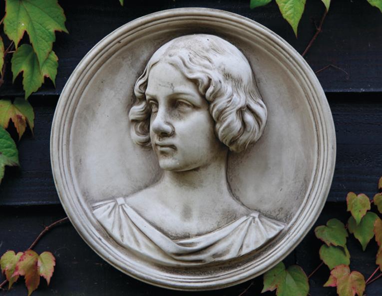 stoneware classical plaque