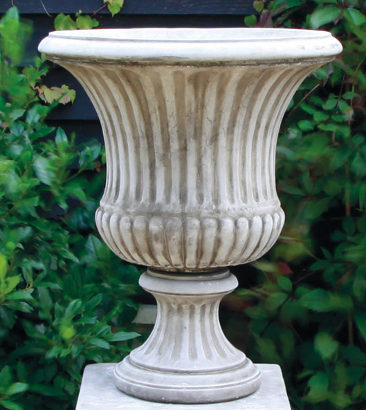 antiqued stoneware urns and pots