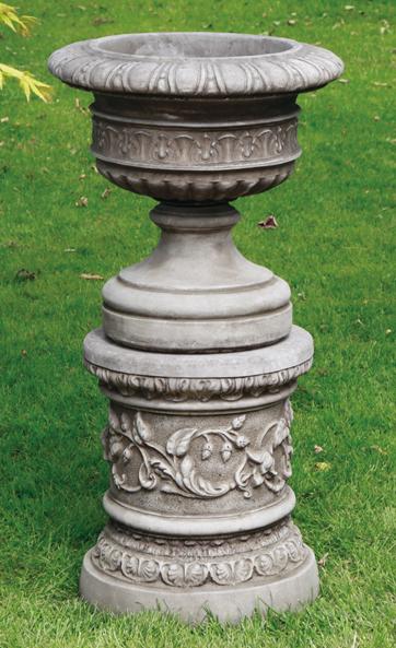 Gardencraft reconstituted limestone  plinths