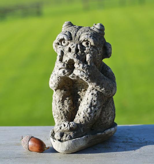 hand made stoneware gargoyles
