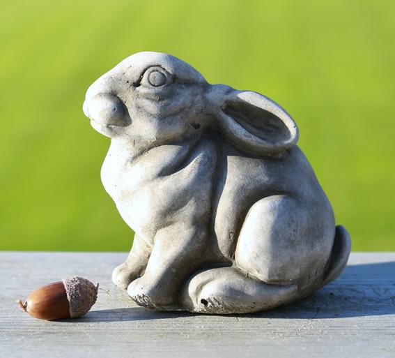 hand cast limestone rabbit