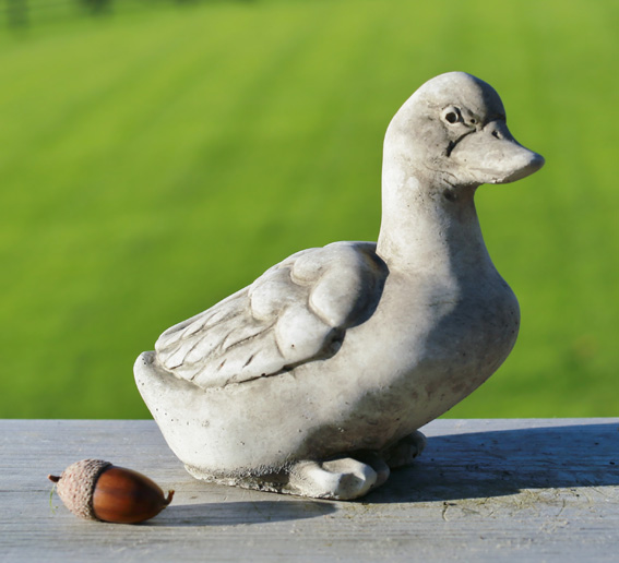 hand crafted stoneware duck