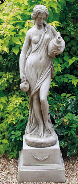 hand crafted stoneware classical statues