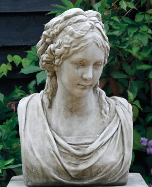 hand crafted stoneware busts