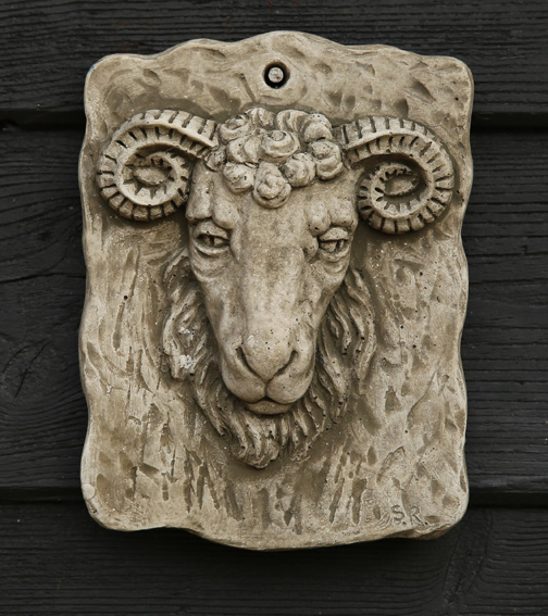 ram's head stone plaque