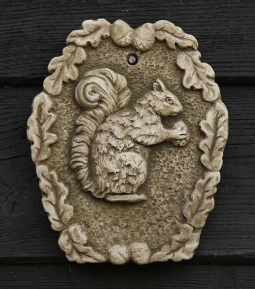 squirrel stoneware plaque