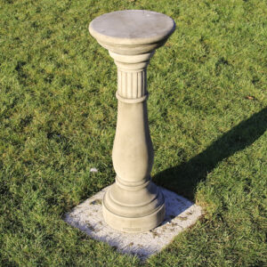 Classical sundial made from reconstituted limestone