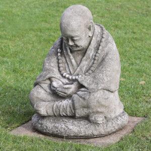 Buddha garden statue made from hardwearing reconstituted stone