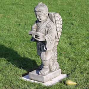 Japanese boy garden statue made from hardwearing reconstituted stone