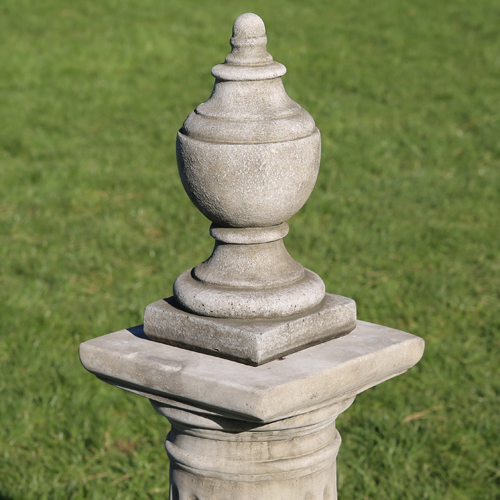 Decorative finial made from hardwearing reconstituted limestone