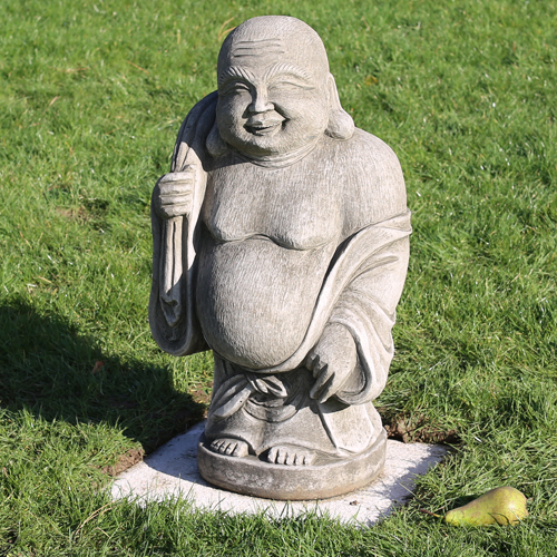Hotei garden statue made from hardwearing reconstituted ston